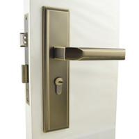 antique door levers - Y1494AB Door Lock Door Handle Lock Antique Brass Finish