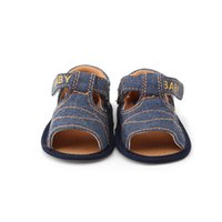 Wholesale Delebao New Design Baby Boy Sandals Canvas Cross Soft Sole Summer Sandals For Months Baby Shoes