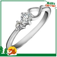 Wholesale For Women Wedding Jewelry White Gold Plated Stainless Steel Rings High Quality Jewelry Best Sellers Large CZ Crystal Three Stone Ring