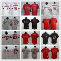 albert mix - Los Angeles Angels Baseball Jerseys Erick Aybar White Albert Pujols Red Mike Trout Gray Jersey Accept Mix Order