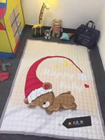 Wholesale 100 Cotton anti skid carpet children s mats cartoon crawling pad activity S the baby climbing pad