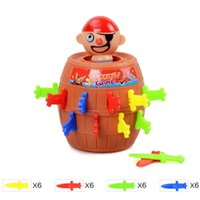 Grossiste-1 Set Creative Pirate Fun Jouets Barrel Crisis Novel Fantaisie Classic Family Funny Lucky Baby Enfants Jouets Party Interactive Game Cadeaux