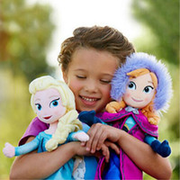 Wholesale 2017 New Arrival Frozen Girls Baby Plush Toy Dolls cm Anna Elas Christmas Gifts
