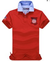 tommy shirt - American Style Solid Men polos T Shirt USA Design Casual T Shirts tommy Cotton Boys Sport Shirt Male lapel t Shirts M XXL