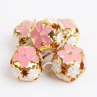 Wholesale cloisonne carved cat collar charms cheap cat charm eight different colors dog collar charms freely give away good red rope as collars