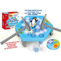 Wholesale Penguin Trap Activate Funny Game Ice Breaking Table Game Penguin Trap Save The Bee Activity Children Kids Family Game Buidling Blocks Toy