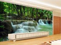 al por mayor producción ecológica-Nuevo paisaje verde hermoso de la naturaleza 3D de la pintura de paisaje de la pintura del agua de la producción de la pared del fondo del dormitorio de la TV