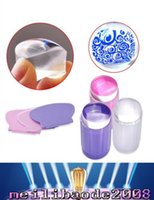 Cheap New Arrivals 2.8cm DIY Nail Art Templates Stamping Stamper Scraper Image Plate Manicure Tools Kits Plastic free shipping MYY