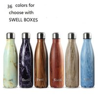 best vacuums - 36 Colors Swell Large Stainless Steel water Bottle with SWELL BOX Vacuum Flask Cup S well Sports water Bottles ml Best quality