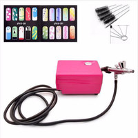 air nail guns - Value Airbrush Set Kit Pen Body Paint Makeup Spray Gun for Nail Paint with Cleaning Brush Air Compressor Horse Stencil