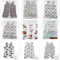 Wholesale Summer Baby Vest type Infant Sleeping Bag Ins a single Lyer Gauze Summer Sleeping bag