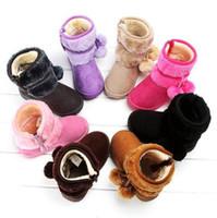 Wholesale new winter children boots for plus velvet Faux fur girls boots kids leather boots cotton imitation shoes
