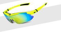 achat en gros de lunettes de soleil lentille jaune vélo-Hommes Lunettes de soleil - Obaolay Lunettes de soleil polarisées Cyclisme Lunettes de soleil vélo Vélo Lunettes de soleil sport 5 lentilles, cadre jaune