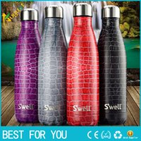 Wholesale 4 color chooes Swell Bottle Creative Stainless Steel Vacuum Bottle Coffee Cola thermos Cup ML BOTTLE as christmas gift