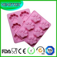 Wholesale Manul Home Handmade Silicone Soap Molds Cat Claws Silicone Mold For Soap Cake Chocalate Ice Making