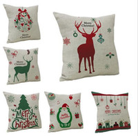 bedding cloth - New Arrive Christmas Decorations for Home Vintage Christmas Letter Sofa Bed Pillow Decoration