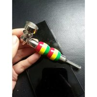 Wholesale 2016 cm Metal Smoking Pipes Mini Pipes Hand Pipes Colorful Smoking Accessories Use For Tobacco GP2011