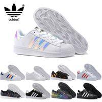 Wholesale 2017 Adidas Originals Men Women Superstar Casual Shoes Cheap Skate Shoes Original New Color Sneakers Size