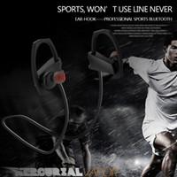 оптовых headphones-Спортивный Bluetooth-наушники 4.1 Беспроводные наушники с микрофоном для спортивной стерео гарнитуры Шум отмена Neckband IPX5 Защитный чехол