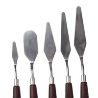Wholesale 5pcs Stainless Steel Palette Knife set Mixed Scraper Set Spatula
