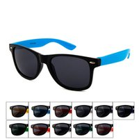Wholesale 2016 Brand New Men s and Women s Fashion Accessories fashion driving full frame PC Sunglasses elevn colors drop shipping