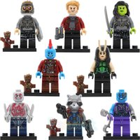 lego like Super Hero Minifigures China 8pcs Guardians of Galaxy Minifigures set Rocket Gamora Star-Lord Groot Peter Quill Drax Marvel toys for children Building Blocks