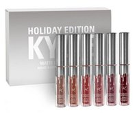 Wholesale 2017 New Kylie Holiday Edition set Mini Matte Liquid Lipstick Set LTD Collection minis Kylie Cosmetics HOLIDAY EDITION FOR Christmas
