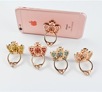 Wholesale Diamond Ring Finger Metal Stand Holder Luxury Rhinestone Bracket Degree rotating for iphone plus s for Samsung S7 S6 cell phone