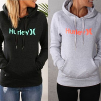 Wholesale Letter Print Ladies Long Sleeve Pullover Tops Casual Womens Hooded Sweatshirts Hoodies Jumper Fashion Hoody Sweaters With Pocket
