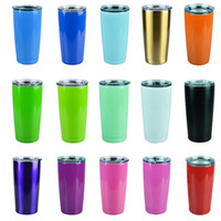 Wholesale 15 colors oz oz Cups Cooler Rambler Tumbler Travel Vehicle Beer Mug Double Wall Bilayer Vacuum Insulated DHL free