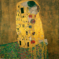 art nouveau frame - Art Nouveau Gustav Klimt The Kiss Giclee High Quality Canvas HD Print Abstract Art Paintings Multi sizes for Choose refine
