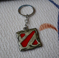 antique toy cars - 2 colours Dota Logo Pendant Vintage Keychain dota2 key chain figure toy jewelry accessories gift keyring Keychains