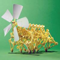 Wholesale Wind Powered DIY Walking Walker Mini Strandbeest Assembly Model Kids Robot Toy For Children