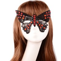 Wholesale Set auger bud silk mask Butterfly party creative appeal persona