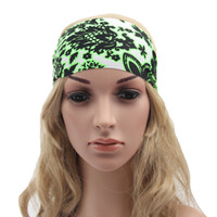 band holidays - Women Wide Sports Yoga Headband Stretch Hairband Elastic Hair Band Boho Turban Hair Decoration colors Head Wrap Band Accessories