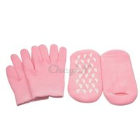 Wholesale Pairs Reusable SPA Gel Socks Gloves Moisturizing Whitening Exfoliating Whiten Soften Skin Treatment Beautiful Hand Foot