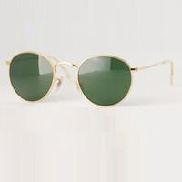 al por mayor gafas de sol de espejo redondo-Nuevas gafas de sol de metal redondas diseñador de gafas de oro Flash de lente de cristal para las gafas de sol para hombre de espejo para mujer gafas de sol unisex redonda de sol