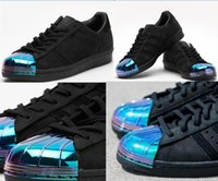 Wholesale Best quality Hot sell women and mens fashion superstar electroplate SUPERSTAR S METAL TOE W sports shoes running shoes S76710 size