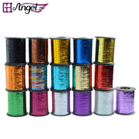 Wholesale GH Angel Hot colors available m inch roll colored Tinsel for cosplay hair braid extension aglare thread make beauty hair style