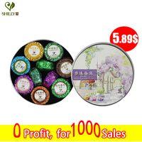 al por mayor té de porcelana de loto-100g Shu Pu er Mini Tuo Cha 7 mezclar Puerh Lotus té chino maduro Puer té marca pegajosa de arroz naranja Pu er Slimming Pu Erh