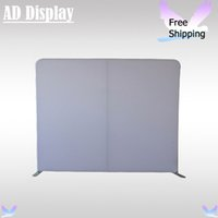 Wholesale 10ft Portable Straight Blank Wall Trade Show Pop Up Booth Tension Fabric Advertising Display Aluminum Stand With White Banner