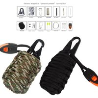 Wholesale in Set Outdoor Camping Hiking Paracord Survival Rescue Grenade Tool Kit