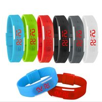 Wholesale Mix colors LED touch screen waterproof bracelet couple tables silicone mini electronic watch