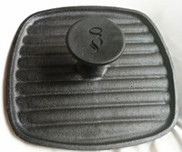 Wholesale BBQ Barbecue Cast Iron Meat Press Plate Food Grade Square No Coating barbecue tool super quality Grill Accessories