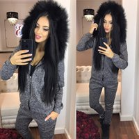 Wholesale Sweater Suit sportwear Woman ladies sport Two pieces dress womens sets Girl Printed Top fall Zipper