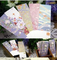 Wholesale bags DIY Cute Creative Flower Paper Bookmarks Creative Vintage Word Card Office School Supplies