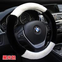 Wholesale wholesales wool steering wheel without inner ring Winter Plush steering wheel cover Fit steering wheel diameter cm