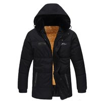 Wholesale New Winter Mens Thicking Parkas Cotton padded Jackets Plus Size Winter Jacket With Fur Fashion Hooded Clothing