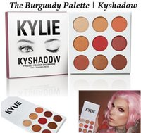 Wholesale Newest Kylie Jenners Burgundy Eyeshadow palette Color set Kylie Jenner Cosmetics The Burgundy Eyeshadow Palette Kyshadow Christmas Gold Set