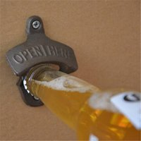Wholesale Creative Metal Iron Wall Mounted Bottle Opener with two Srews Bar Accessories